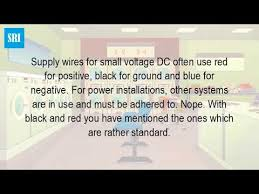 is a red wire positive or negative youtube