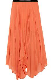 orange mercedes w118 by walter baker mercedes pleated chiffon skirt in orange lyst