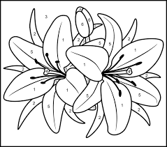 lily printable color number maternelle