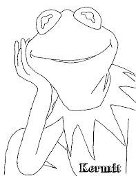 kermit frog outline coloring pages coloring sky