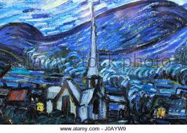 van gogh starry night drawing stock photo royalty free image