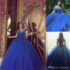 sale cinderella dresses royal blue quinceanera prom gowns