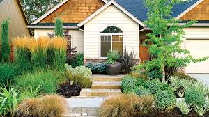 Landscaping Pictures For Front Yard - landscaping without grass sunset
