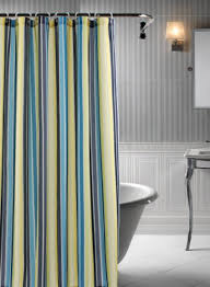 White And Yellow Shower Curtain Country White With Yellow And Blue Shower Curtain Villa Flora Blue