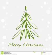 card with green christmas tree royalty free stock images image