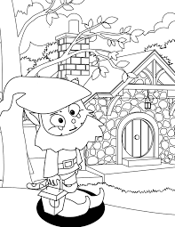 clip art gnome coloring pages mycoloring free printable coloring