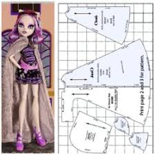 free printable monster doll clothes patterns bing images