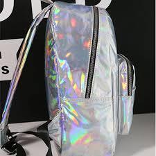 holographic bags women backpack hologram laser backpacks girl school bag