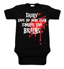 daddy loves me zombie blood splat one piece punk baby clothes