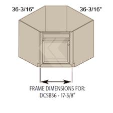 DCSB Hawthorne Maple Bright White Diagonal Corner Sink Base - Sink base kitchen cabinet