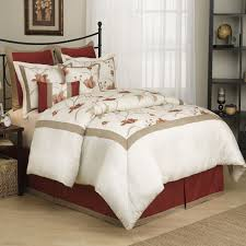 8 piece eve champaign spice embroidered comforter set