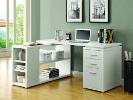 White L Desk by Desk L Shaped Desk With Filing Cabinet For Great Furniture L