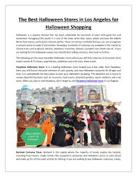 the best halloween stores in los angeles for halloween shopping by