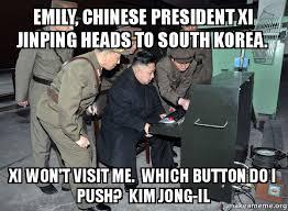 North Korea South Korea Meme - emily chinese president xi jinping heads to south korea xi won t