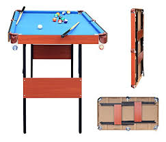 4ft pool table folding hlc 4ft 140 74 3 80 3cm folding blue pool snooker billiards table