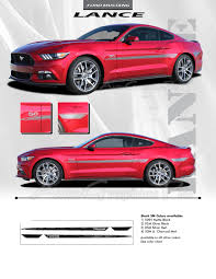 decals for ford mustang 2015 2016 2017 ford mustang lance side stripes vinyl decal graphics