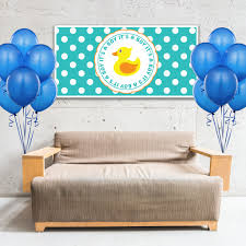 rubber duck baby shower decorations rubber ducky baby shower boy banner party backdrop decoration