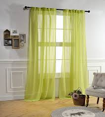 Crushed Voile Sheer Curtains by Mysky Home Back Tab And Rod Pocket Window Crushed Voile Sheer