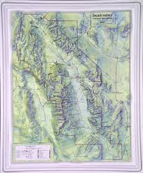 Map Of Death Valley 3d Relief Karte Death Valley National Park 3d Relief Usa Us