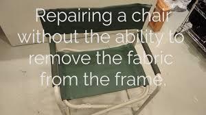Chair Repair Straps by Chair Repair On Claes Long Arm Youtube
