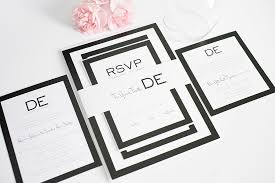 black and white invitations modern wedding invitations in black and white wedding invitations