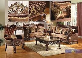 Formal Traditional Kings Brand Sofa Love Seat  Chair  Pc Antique - Kings sofa