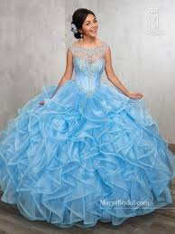 baby blue quinceanera dresses illusion ruffled quinceanera dress by s bridal princess 4q513