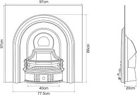 Fireplace Insert Dimensions by Coleby Cast Iron Insert Carron Fireplaces Lowest Prices In Uk