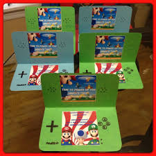 nintendo ds invitations i made for my sons super mario birthday
