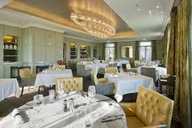restaurant at hotel villa honegg switzerland interior design by