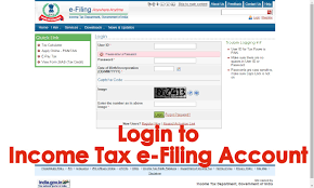 how to login to income tax e filing account of an assessee in