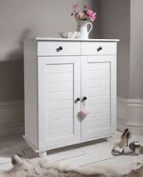 White Shoe Storage Cabinet Shoe Storage Cabinet Cupboard With 2 Storage Drawers Heathfield In