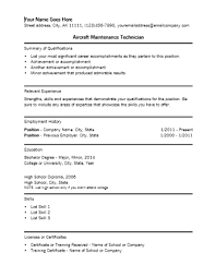 Sample Resume For Electrical Maintenance Technician by 9 Aircraft Maintenance Technician Resume Resume Airframe And