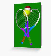 tennis greeting cards redbubble