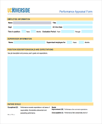7 company appraisal form samples free sample example format
