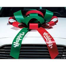 car bow ribbon printed happy birthday car bow
