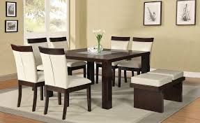 Modern Dining Room Table With Bench Sofa Modern Square Dining Tables E Square Modern Dining Tables