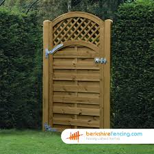 arched trellis top horizontal panelled gate 900mm x 1800mm brown
