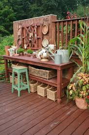 Outdoor Potting Bench With Sink 58 Awesome Potting Benches For Every Gardener Shelterness