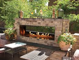 Outdoor Fireplace Images by Empire Outdoor Linear See Through Fireplace 48