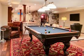Red Patterned Rug Billiards Rug Basement Traditional With Red Patterned Rug Home Bar