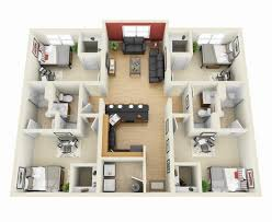 1 4 bedroom house plans 4 bedroom apartment house plans inside designs inspirations 18