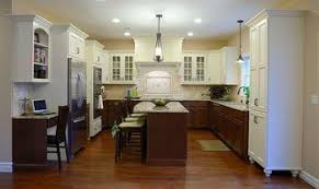 kitchen cabinets different color on bottom top cabinets