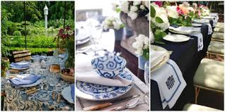 Navy Blue Table L 45 Blue And White Table Settings Blue And White