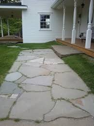 Building Stone Patio by How To Natural Stone Patio And Walkway Building Tips From A