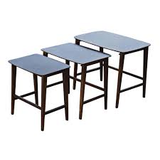 Coffee Table Nest by Danish Mid Century Modern Set Of 3 Nesting Tables Mr12452 Ebay