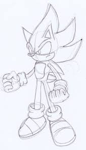super sonic battle sketch by omgnova on deviantart