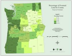 oregon county map pnw maps percentage of forested land by county in washington and