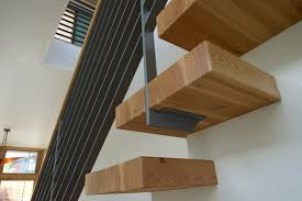cantilevered stair treads modern staircase seattle by cast