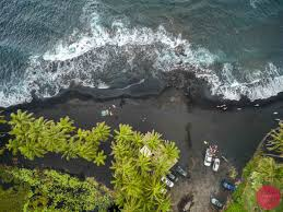 where is the black sand beach hawaii aerial photography gallery photos for sale drone u0026 dslr